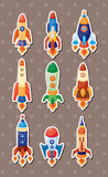 Spaceship stickers Royalty Free Stock Photo