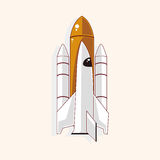 Spaceship theme elements vector,eps Stock Photo