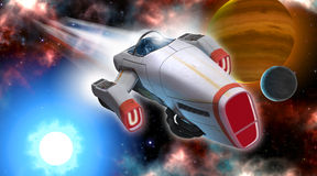 Spaceship Travel Stock Photography