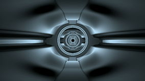 Spaceship tunnel animation. Spaceship tunnel 3d render  animation stock footage