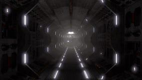 Spaceship tunnel Stock Photo
