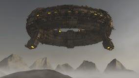 Spaceship UFO alien Royalty Free Stock Image