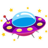 Spaceship UFO and Flying Saucer Royalty Free Stock Image