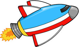 Spaceship Vector. Cute Fast Spaceship Vector Illustration Stock Photo