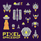 Spaceship  vector set Royalty Free Stock Images