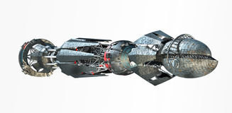 Spaceship with Warp Drive Royalty Free Stock Photos