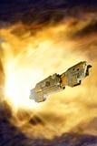 Spaceship warp Stock Image