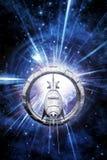 Spaceship warp speed Stock Photo