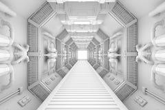 Spaceshipinre centrerar beskådar royaltyfri illustrationer