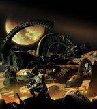 Spaceships graveyard Stock Image