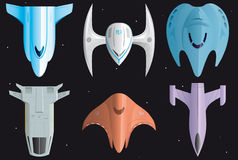 Spaceships icons Stock Images
