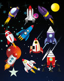 Spaceships  illustration Royalty Free Stock Images