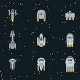 Spaceships sc.i-FI Stock Foto's