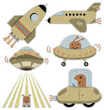 Spaceships and transportation vehicles Stock Image