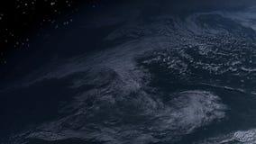 Spacestation que vuela sobre la tierra