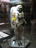 The spacesuit `Krechet` for an exit in an open space. Stock Image