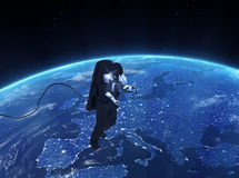 Spacewalk over Europe Royalty Free Stock Images