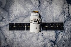 Spacex satellite in space