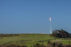 Spacexvalk 9 één seconde na start Royalty-vrije Stock Foto