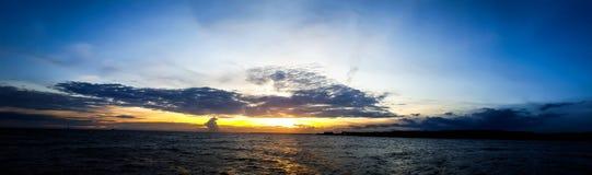 Spacial заход солнца Стоковое Фото