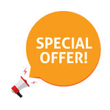 Spacial offer vector illustration isolated on white background Royalty Free Stock Photos