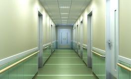 spaciou borrado brilhante moderno do corredor do fundo da clínica médica Fotografia de Stock Royalty Free