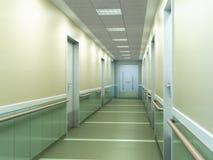 spaciou brouillé lumineux moderne de couloir de fond de clinique médicale Photo stock