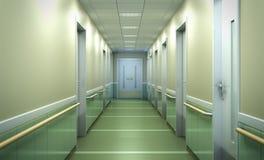 spaciou brouillé lumineux moderne de couloir de fond de clinique médicale Photographie stock libre de droits