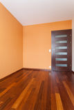 Spacious apartment - Orange room Stock Image