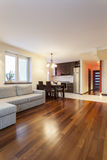Spacious apartment - Modern interior Stock Photo