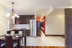 Spacious apartment - Kitchen Stock Photo