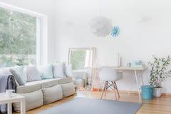 Spacious apartment in modern style Stock Photo
