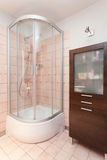 Spacious apartment - Shower Stock Images
