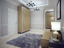 Spacious avant-garde entrance trend Royalty Free Stock Image