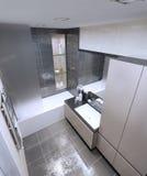 Spacious bathroom high-tech style Royalty Free Stock Photography