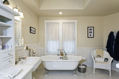 Spacious Bathroom In House Royalty Free Stock Photos