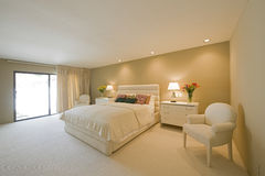 Spacious Bedroom In House Stock Photography