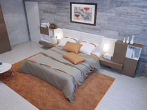 Spacious bedroom interior Stock Photography