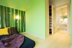 Spacious bedroom Stock Image