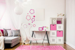 Spacious child room. Image of spacious child room with new design furniture Stock Photography