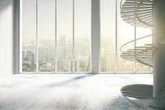 Spacious concrete interior Stock Images