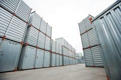 Spacious container storage area Stock Photos