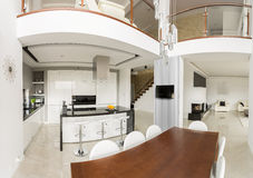 Spacious detached house interior Royalty Free Stock Photography