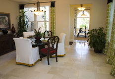 Spacious dining room. Stock Photos