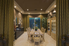Spacious Dining Room In Home Stock Photos