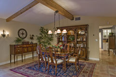 old fashioned house interior. dining room stock photo - image