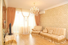 Spacious drawing room Royalty Free Stock Photo