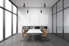 Spacious empty meeting room Royalty Free Stock Photos