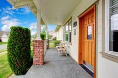 Spacious entrance porch with sitting area Stock Photos