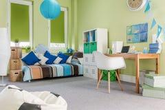 Free Spacious Green Boy Room Stock Photos - 58491613